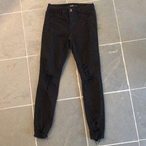 Cello Distressed Black Jeans Sz 1